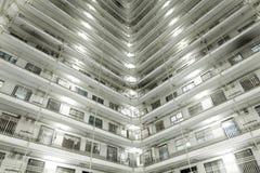 Hong Kong apartment blocks at night Royalty Free Stock Images