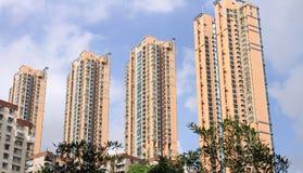 Hong Kong apartment buildings Stock Image
