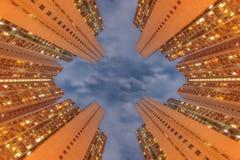 Hong Kong Apartment Tower royaltyfria bilder