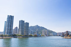 Hong Kong apartments along the coast Stock Photography