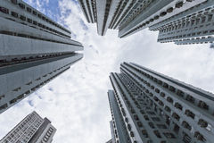 Hong Kong apartments at day Stock Images