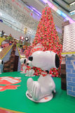 Hong Kong APM christmas Snoopy decoration Stock Images