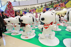 Hong Kong APM Snoopy christmas decoration Royalty Free Stock Image
