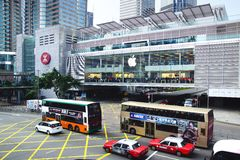 HONG KONG Apple Inc Arkivbild