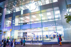 HONG KONG - Apple stockent Image stock
