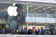 Hong Kong : Apple Store Images libres de droits
