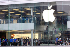 Hong Kong : Apple Store Image stock