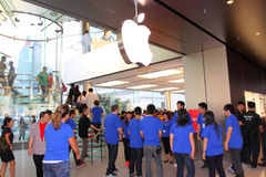 Hong Kong : Apple Store Photographie stock