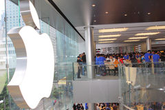 Hong Kong : Apple Store Photographie stock libre de droits