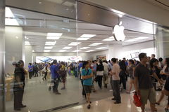 Hong Kong : Apple Store Stock Image