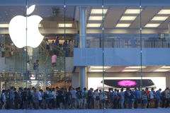 Hong Kong: Apple Store foto de stock royalty free