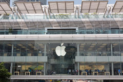 Hong Kong Apple Store at ifc mall Stock Photography