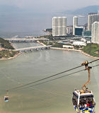 Cable car ride to Lantau island Stock Images