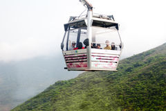 Cable car ride to Lantau island Royalty Free Stock Photography