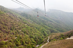 Cable car ride to Lantau island Stock Photo