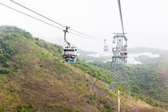 Cable car ride to Lantau island Stock Image
