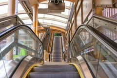 Central-Mid-Levels escalator in Hong Kong royalty free stock photo