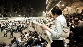 Hong Kong - April 2016: Hong Kong, Crowd and people gathering fo Stock Photos