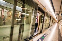 HONG KONG - APRIL 2014: MTR underground station in Hong Kong. Ma Royalty Free Stock Photo