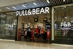 Paul &Shark store in Hong Kong. Founded in 1976 by the Italian Dini family, Paul and Shark is a brand l stock photo