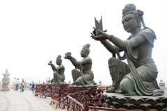 Jätte- Buddha statyer Arkivbild