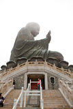 HONG KONG - APRIL 10: Tian Tan Giant Buddha from Po Lin Monaster Royalty Free Stock Photos