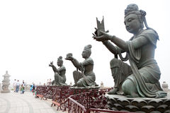 Giant Buddha Statues Stock Photography