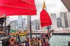 HONG KONG - 14 APRILE 2014: Aqua Luna famosa un giorno di molla L'IT fotografie stock