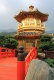 Hong Kong. Arch Bridge and Pavilion in Nan Lian Garden, Hong Kong Stock Images