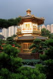 Hong Kong. Arch Bridge and Pavilion in Nan Lian Garden, Hong Kong Stock Photography
