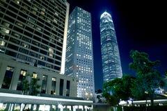Hong Kong Architecture. At night Royalty Free Stock Photos