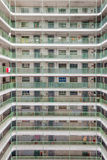 Hong Kong architektury Mieszkaniowa stara nieruchomość, Chiny Fotografia Stock