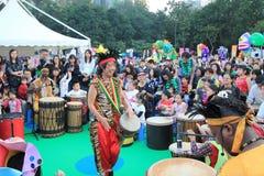 2014 Hong Kong Arts in de gebeurtenis van Parkmardi gras Stock Foto