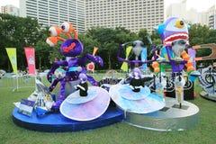 2014 Hong Kong Arts in de gebeurtenis van Parkmardi gras Royalty-vrije Stock Foto's