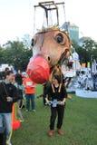 Hong Kong Arts 2014 en el evento de Mardi Gras del parque Imagen de archivo