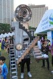 Hong Kong Arts 2014 en el evento de Mardi Gras del parque Imagenes de archivo