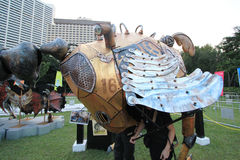 Hong Kong Arts 2014 en el evento de Mardi Gras del parque Foto de archivo