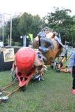 Hong Kong Arts 2014 en el evento de Mardi Gras del parque Fotos de archivo