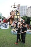 Hong Kong Arts 2014 en el evento de Mardi Gras del parque Fotos de archivo libres de regalías