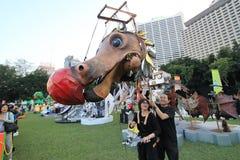 Hong Kong Arts 2014 en el evento de Mardi Gras del parque Imagen de archivo libre de regalías