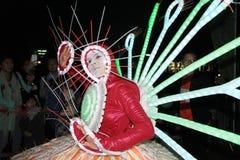 Hong Kong Arts 2014 en el evento de Mardi Gras del parque Foto de archivo libre de regalías