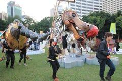 Hong Kong Arts 2014 en el evento de Mardi Gras del parque Fotografía de archivo