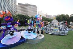 Hong Kong Arts 2014 nell'evento di Mardi Gras del parco Fotografia Stock