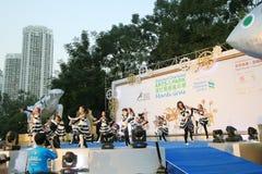 Hong Kong Arts 2014 nell'evento di Mardi Gras del parco Immagini Stock