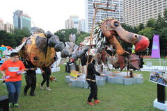 Hong Kong Arts 2014 no evento de Mardi Gras do parque Fotos de Stock