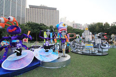 Hong Kong Arts 2014 no evento de Mardi Gras do parque Foto de Stock