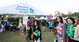 Hong Kong Arts 2014 no evento de Mardi Gras do parque Fotografia de Stock
