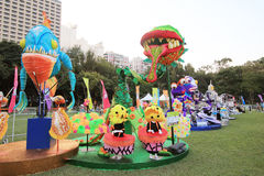Hong Kong Arts 2014 no evento de Mardi Gras do parque Fotografia de Stock Royalty Free