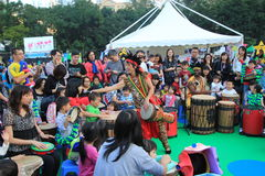 Hong Kong Arts in the Park Mardi Gras event 2014 Royalty Free Stock Photos