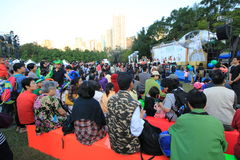 Hong Kong Arts in the Park Mardi Gras event 2014 Stock Image